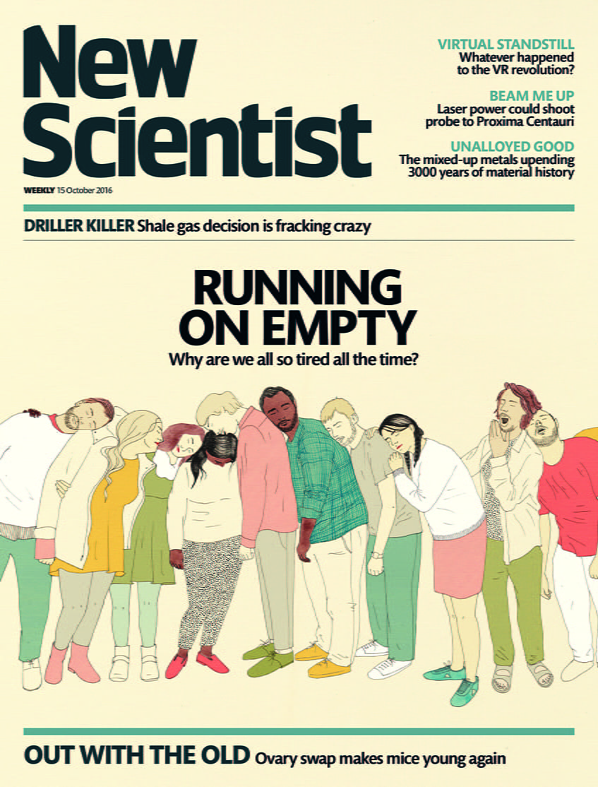 'New Scientist' Cover by Harrier Lee Merrion