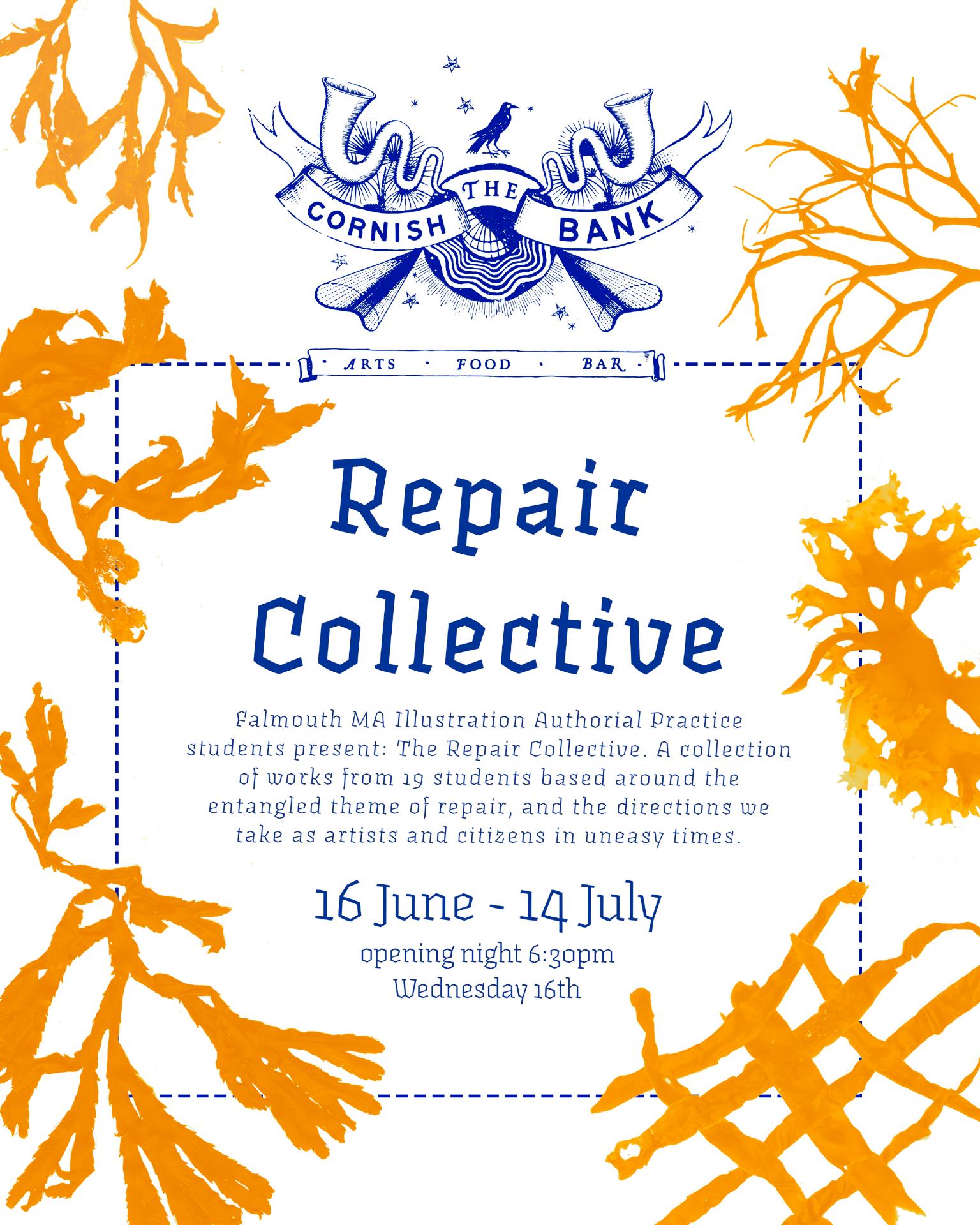 MA Authorial Practice 'Repair' Exhibition
