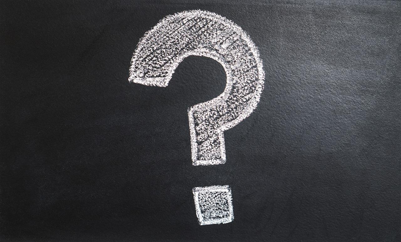 Question-mark on blackboard