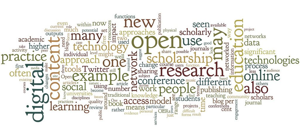 Word Cloud from the digital scholar book;