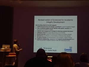 Photo of presentation slide.