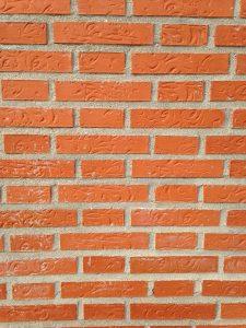 Plain brick wall.