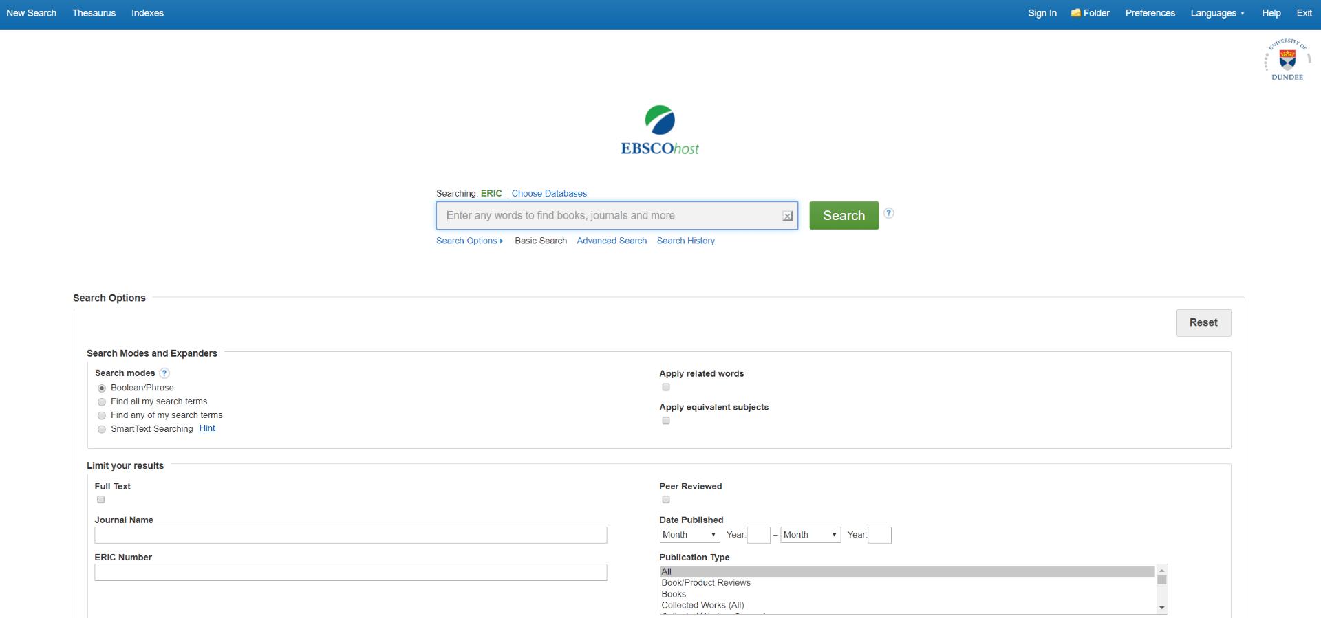EBSCO database