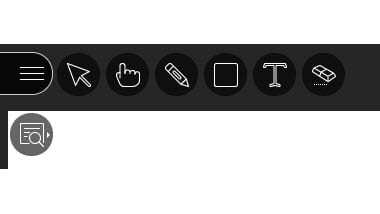 Screenshot of the icons for whiteboards and Powerpoint presentations
