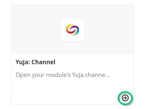Image of adding a YuJa channel