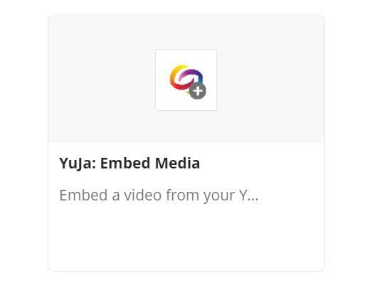 Image of YuJa: Embed Media