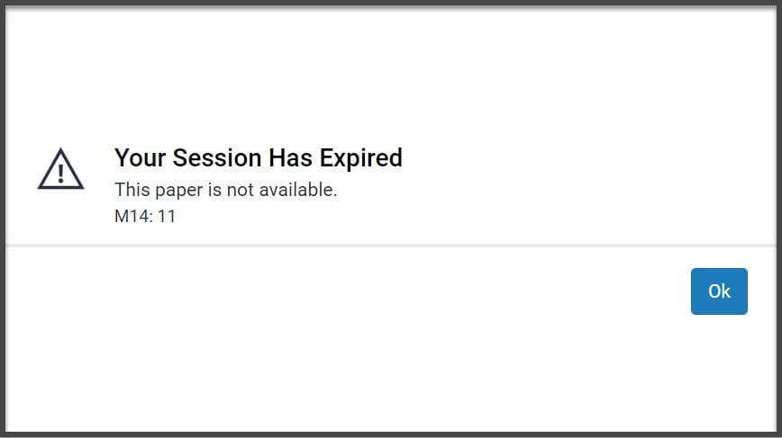 Screenshot of Turnitin error message