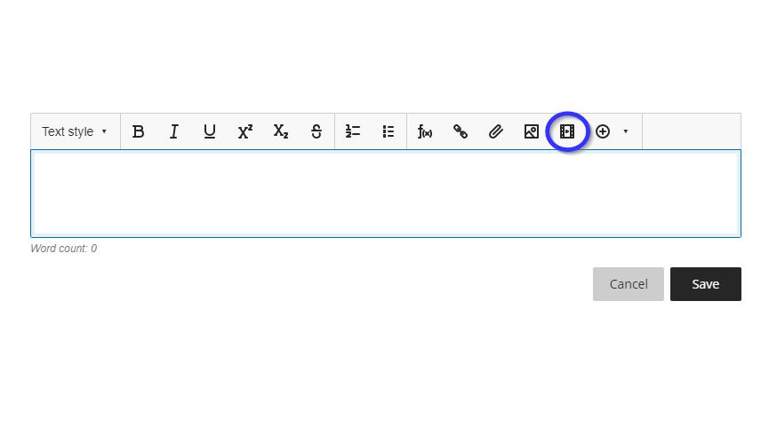 Insert web item