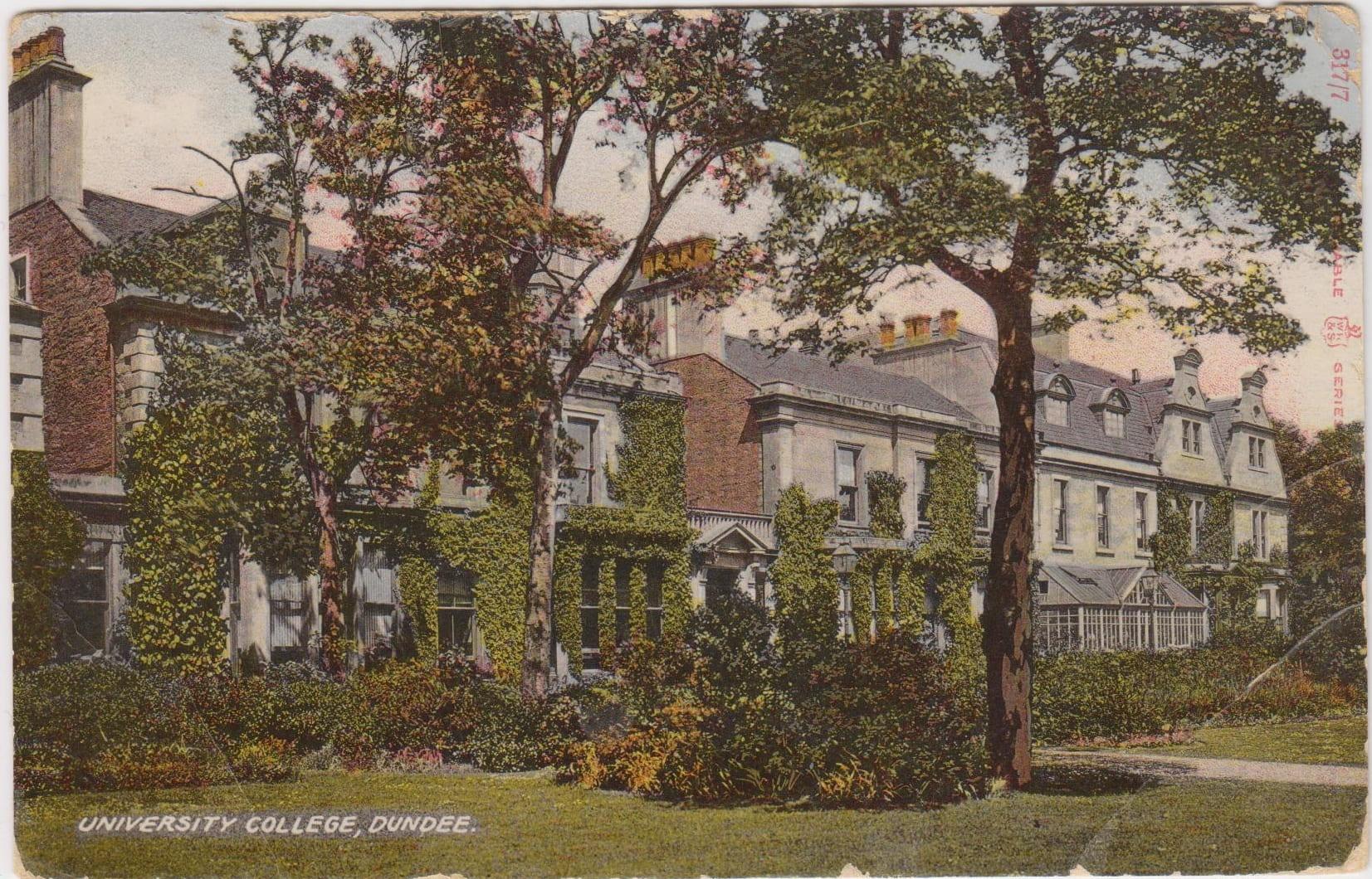 University College Dundee postcard