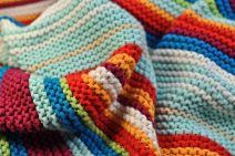 Colurful striped wool blanket