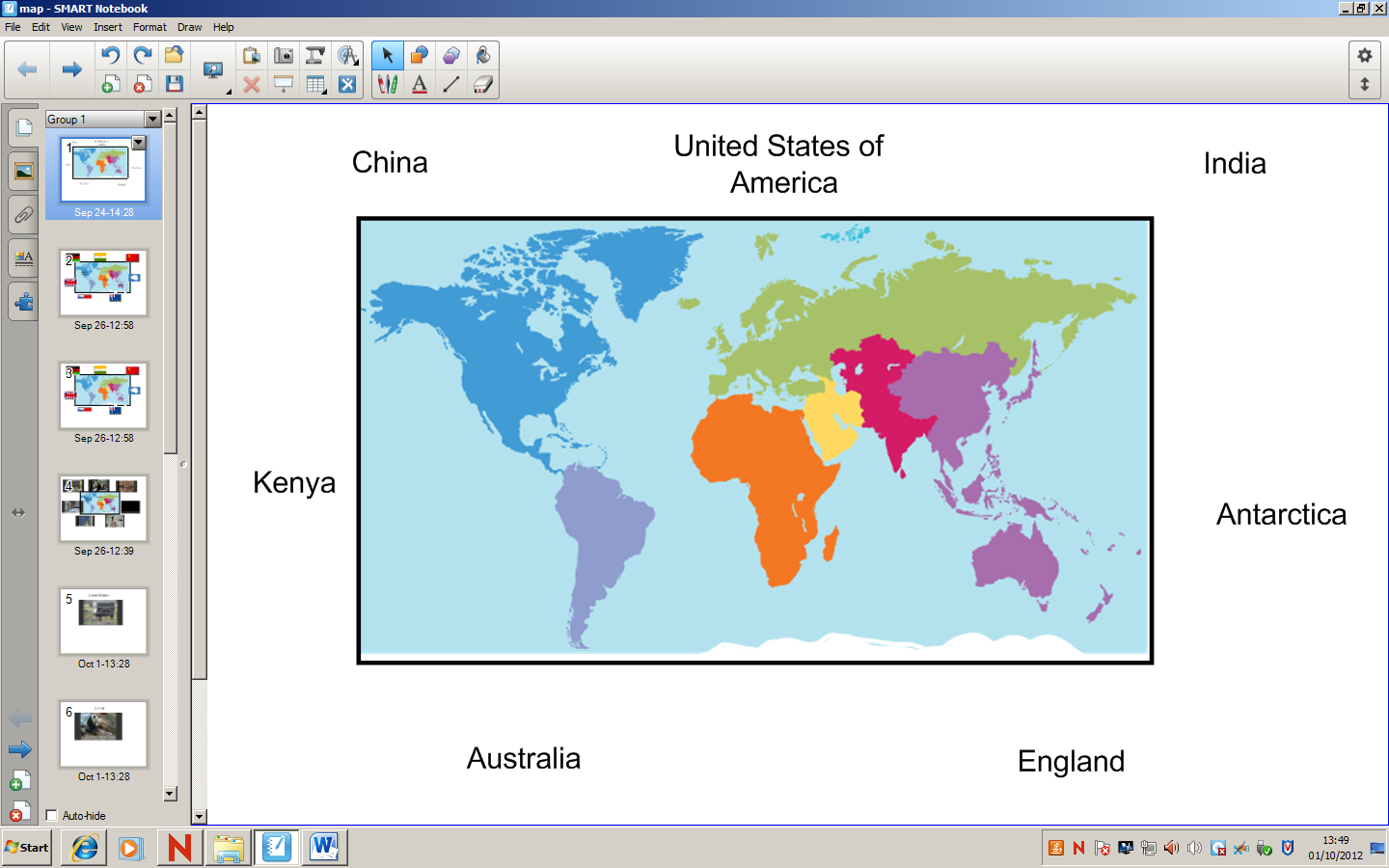 Blog lauras blog a simpler version of this is having the map of the world with the countries labelled with the childrens job to create an gumiabroncs Image collections