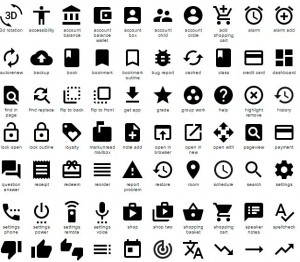 material icon library screenshot