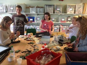 Art Specialist students helped us to deconstruct technology.
