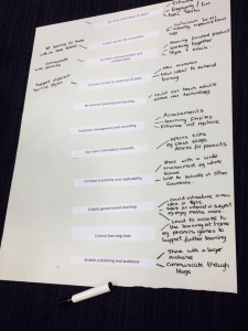 Our ideas for vision statement