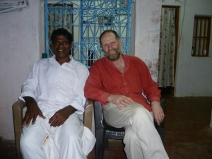 "Johnson tells me that this is a picture of ""two wise men together"". I have no doubt about which of us has the learning that is of most value in a South Indian fishing community."