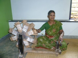 The learning of this lady spinning on the charka that and her husband the weaver produced cotton cloth of high quality used to make a kurta which I wore whilst teaching MA students in Bangalore. An interesting link between different kinds of learning.
