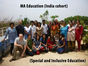he students in this picture are destined to become leaders for inclusive education in India