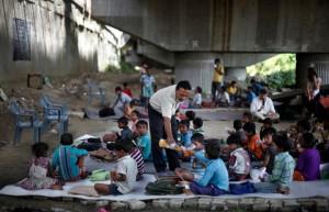 "The unofficial ""Under the Bridge School"" run by Rajesh Kumar Sharma and his dedicated teachers in Delhi"