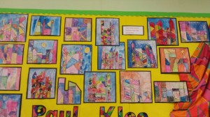 Interpretations of Paul Klee's Castle and Sun by four year old children