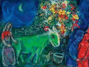 L'Ane Vert by Marc Chagall. Childlike genius with a broad appeal