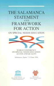 The Salamanca Statement and Framework for Action was intended to promote a more inclusive education system internationally. Has it had an impact where you live?