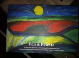 Sunset on the Hills. The cover of the book Pen and Palette painted by Aine Lawlor