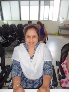 Sumathi Ravindranath, MA student and Head of a Montessori House of Children, a thoughtful lady and committed teacher.