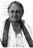 Dr Maria Montessori, whose influence remains significant in India.