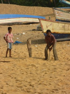 I'm sure that there is much to be learned whilst playing cricket on the beach. But perhaps even more in school?
