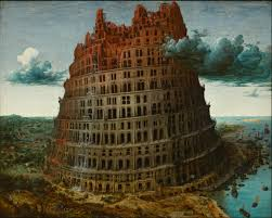 he Tower of Babel, as depicted by the Flemish painter Pieter Bruegel the Elder (1529 - 1565). Biblical tradition has this as the source of the World's languages.