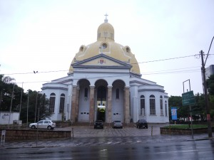 São Carlos cathedral on a wet early morning
