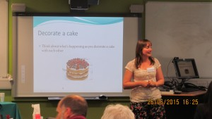 Decorating cakes has a place in educational research - thanks Jessica!