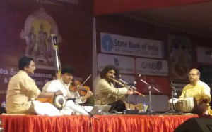 An evening with some of India's finest musicians gives welcome respite from a busy schedule