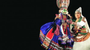Othello and Desdemona. Kathakali artistes perform Shakespeare