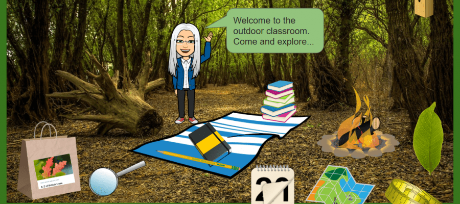 virtual classroom outdoors