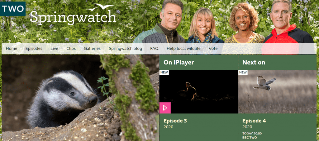 BBC springwatch website