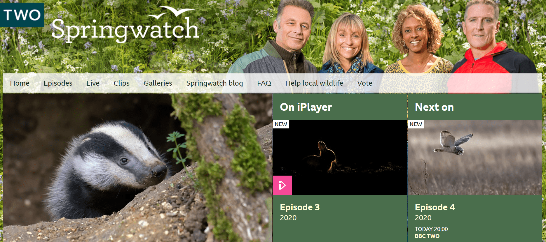 BBC springwatch website