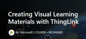 screen shot from Microsoft course page