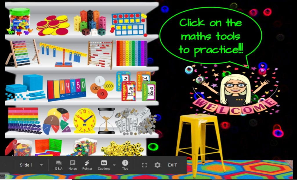 maths bitmoji classroom