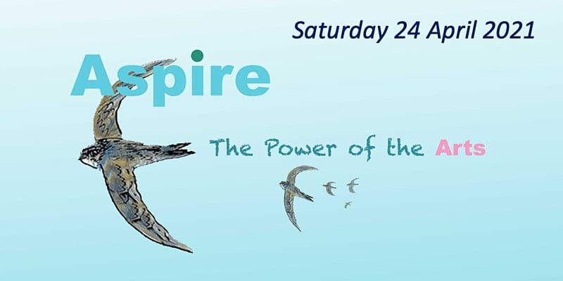 Aspire Power of the arts conference flyer