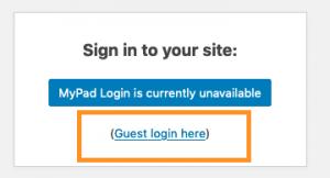 Screen grab - Guest login here