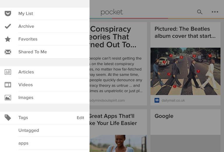 Pocket - filtering content