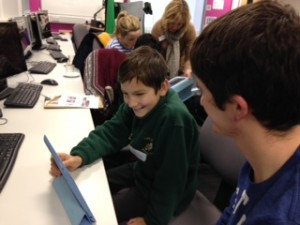 Digital Leaders working together to create a film using technology and art