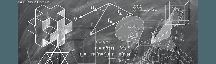 Image geometry drawn on a chalk board