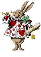 Tenniel's white rabbit
