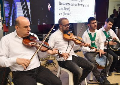 Lebanese School of Blind and Deaf Band performing at the ABLE Summit 2019.