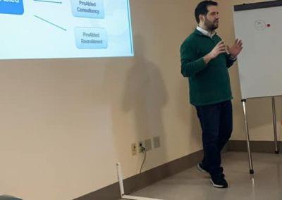 Samer Sfeir explaining a slide about ProAbled services