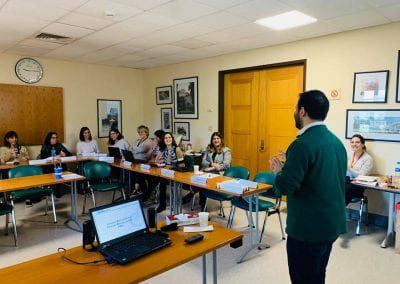 Samer Sfeir and recruitment and career service officers at AUB in the training room