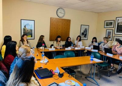 Recruitment and career service officers at AUB in the training room
