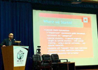 Dr. Ken Reimer explaining the Cascade Model Assumptions